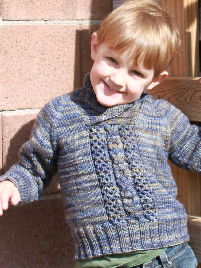 Free Knitting Pattern for Child's Cable Pullover