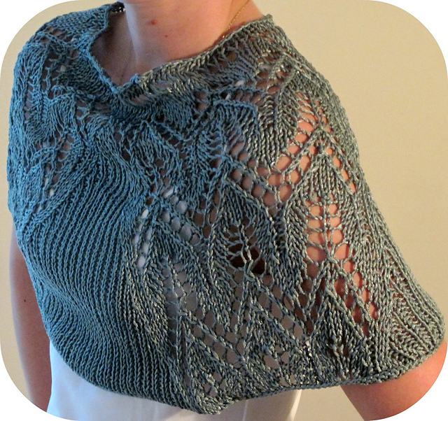Free knitting pattern for Yana's Lace Shawl