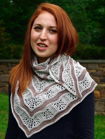 Knitting pattern for Yarden Lace Shawl