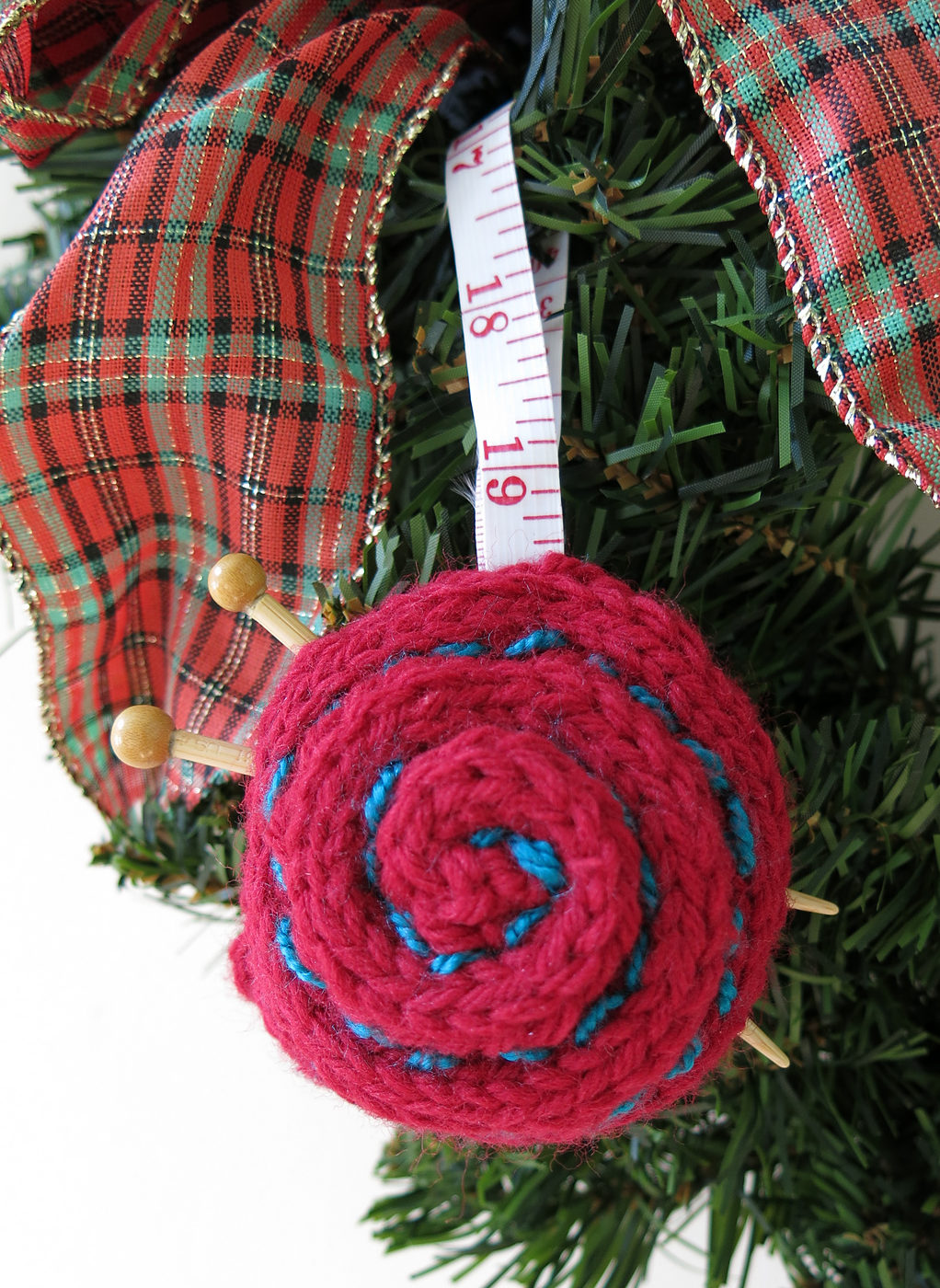 Free Knitting Pattern for Yarn Ball Ornament