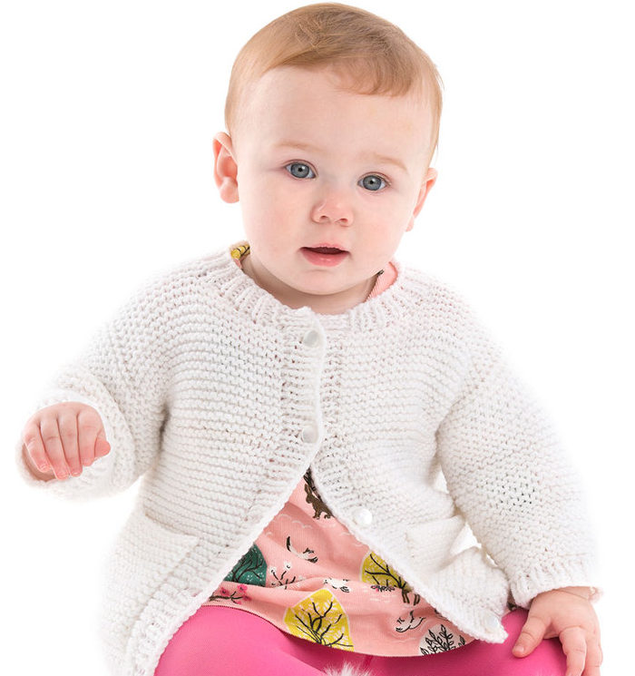 Free Knitting Pattern for Year-Round Baby Cardigan