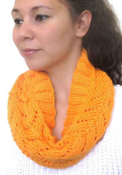 Knitting Pattern for Lace Cowl