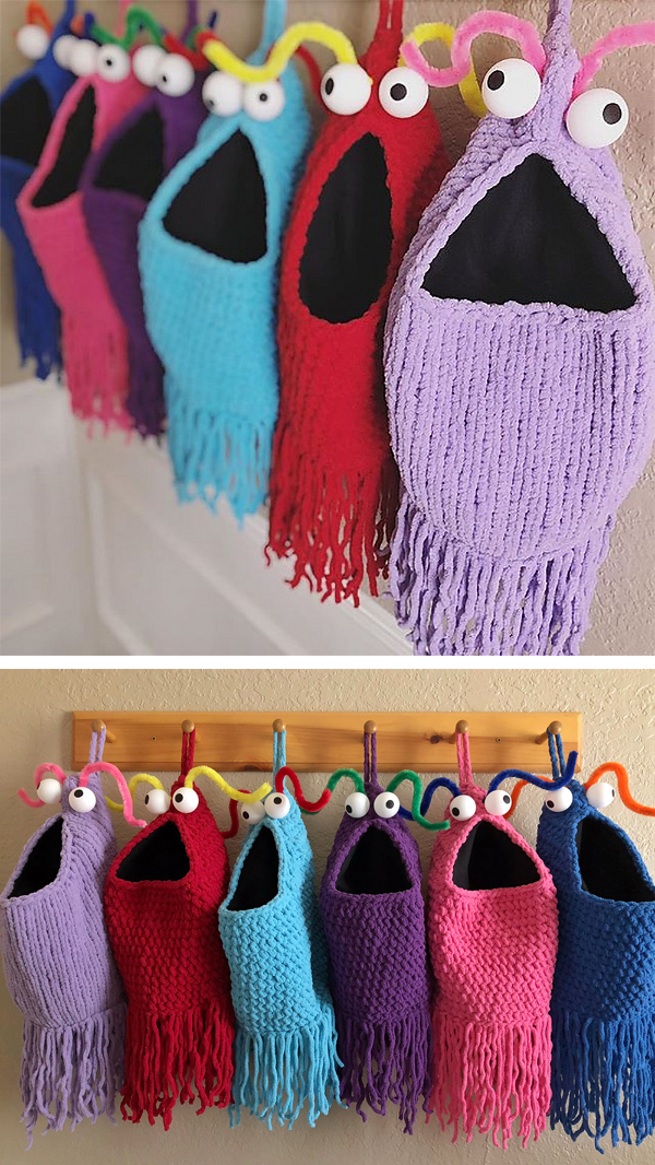 Free Knitting Pattern for Yip Yips Hanging Baskets