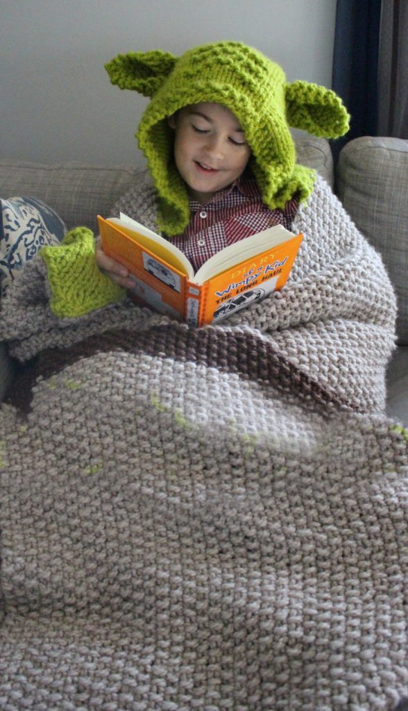 Yoda Blanket Knitting Pattern