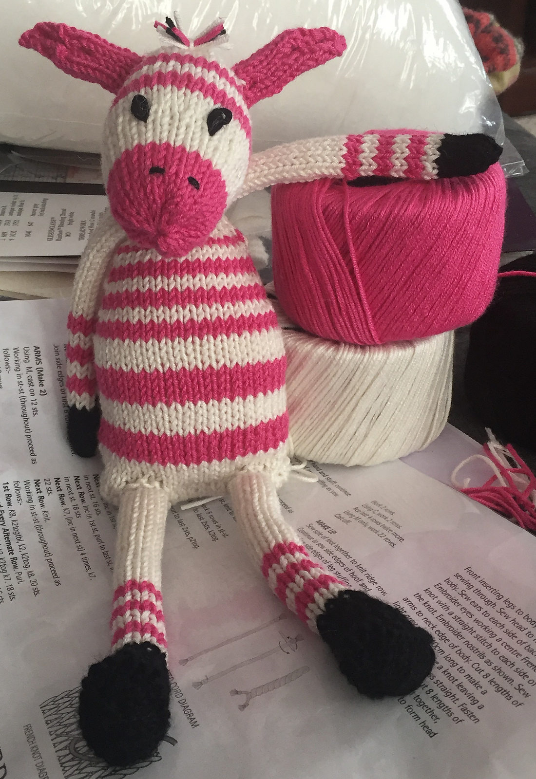 Free Knitting Pattern for Zany Zebras