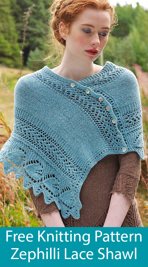 Free Knitting Pattern for Zephilli Shawl