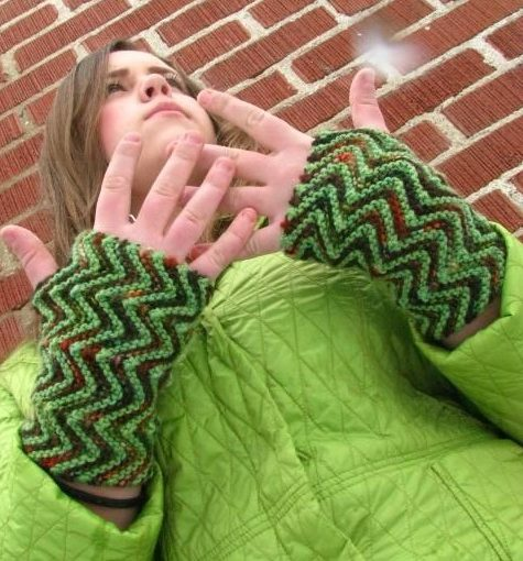 ZigZag Fingerless Gloves