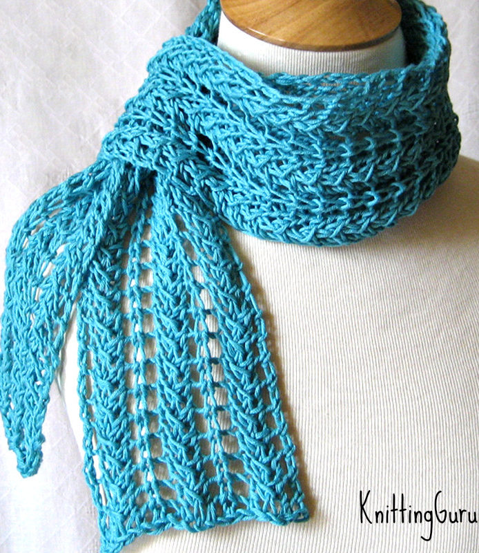 Knitting Pattern for Zigzag Lace Scarf