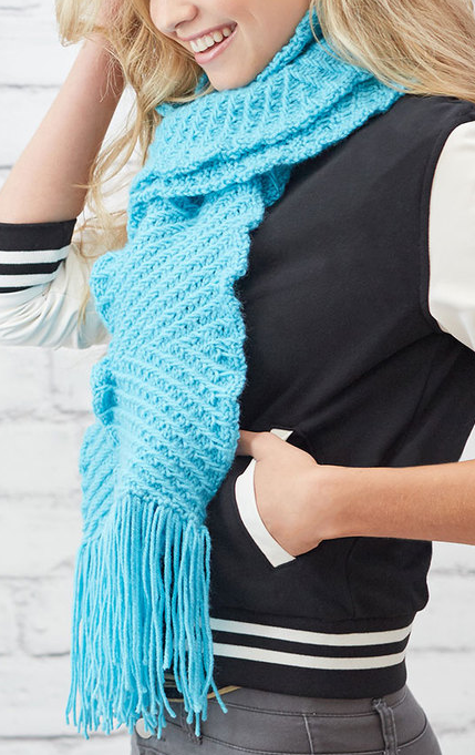 Free Knitting Pattern for Easy Zigzaggy Scarf