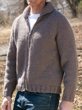 Free Knitting Pattern for Zip Front Jacket