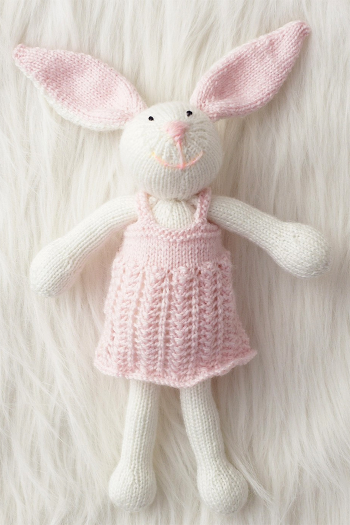 Free Knitting Pattern for Zoe Bunny