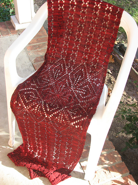 Free knitting pattern for To Zola With Love lace wrap shawl
