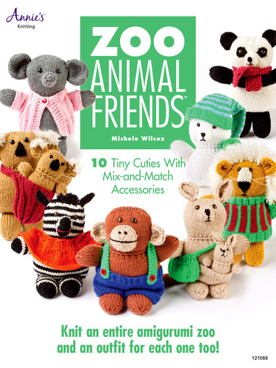 Knitting pattern book for Zoo Animal Friends