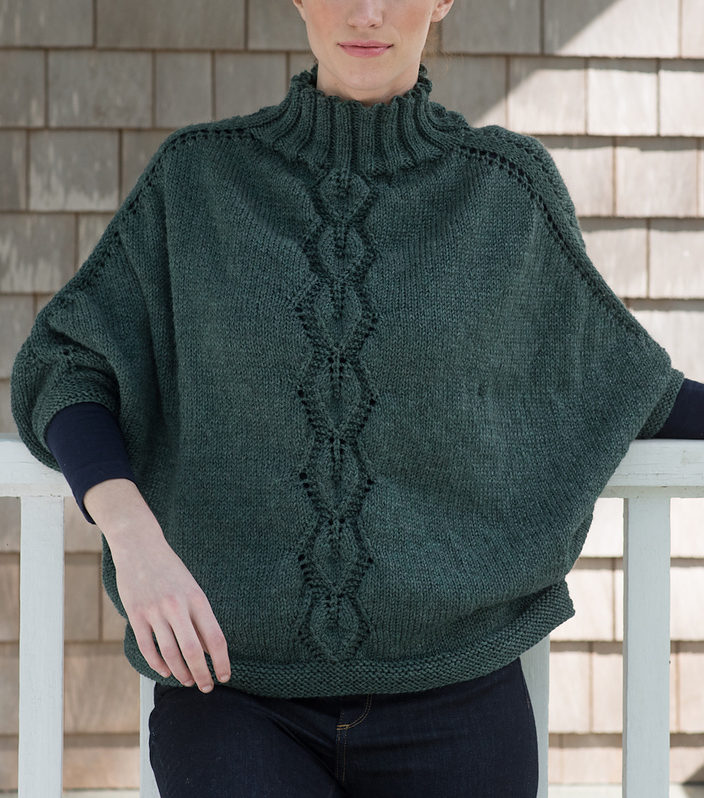Free Knitting Pattern for Kombu Poncho