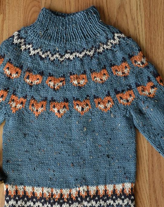Free Knitting Pattern for Fox Sweater