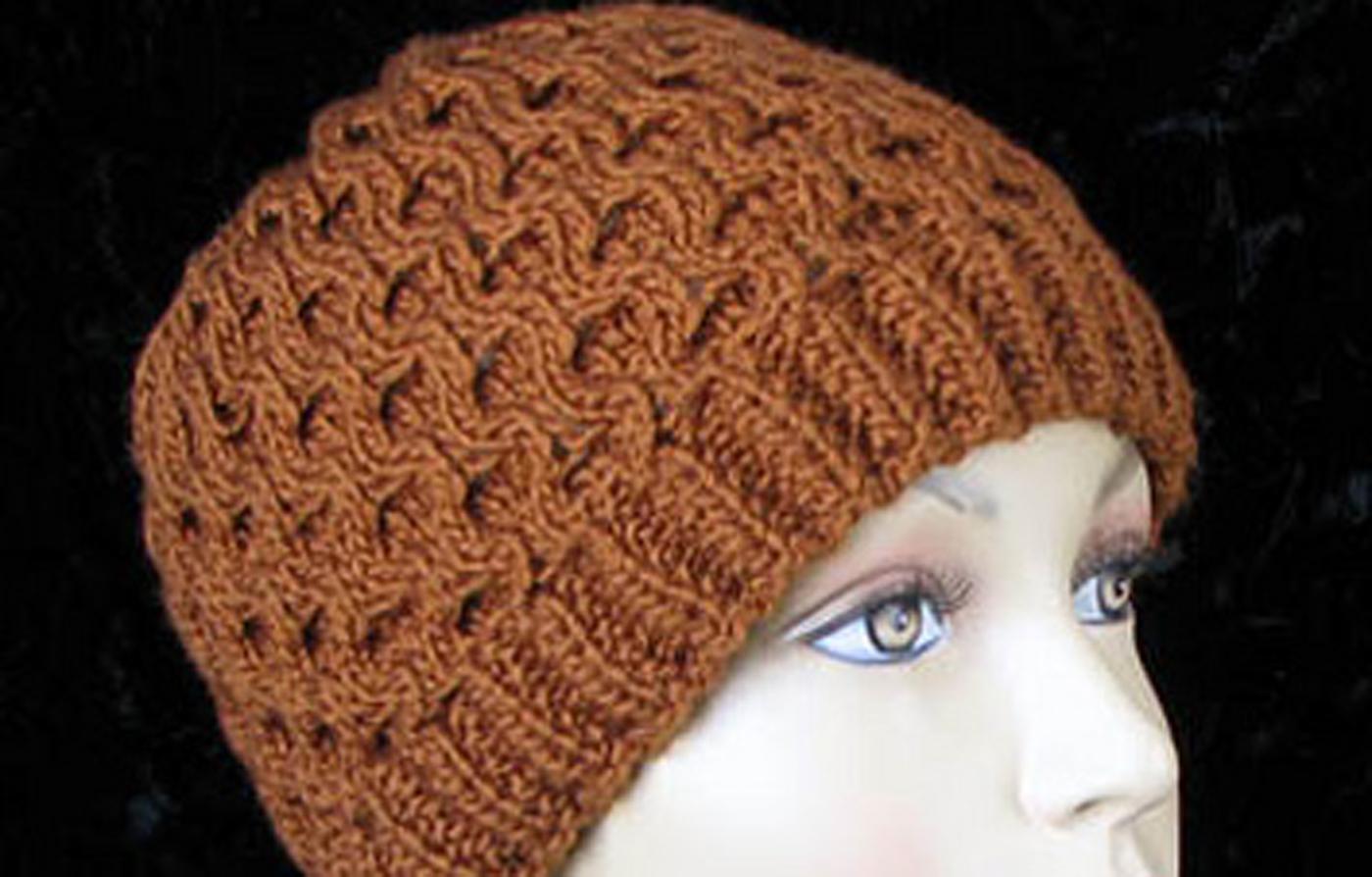 Honeycomb Hat Free Knitting Pattern