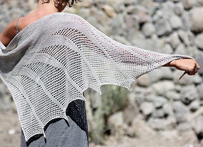 Artesian Shawl Knitting Pattern   Shawl and Wrap Knitting Patterns at www.terrymatz.biz/intheloop
