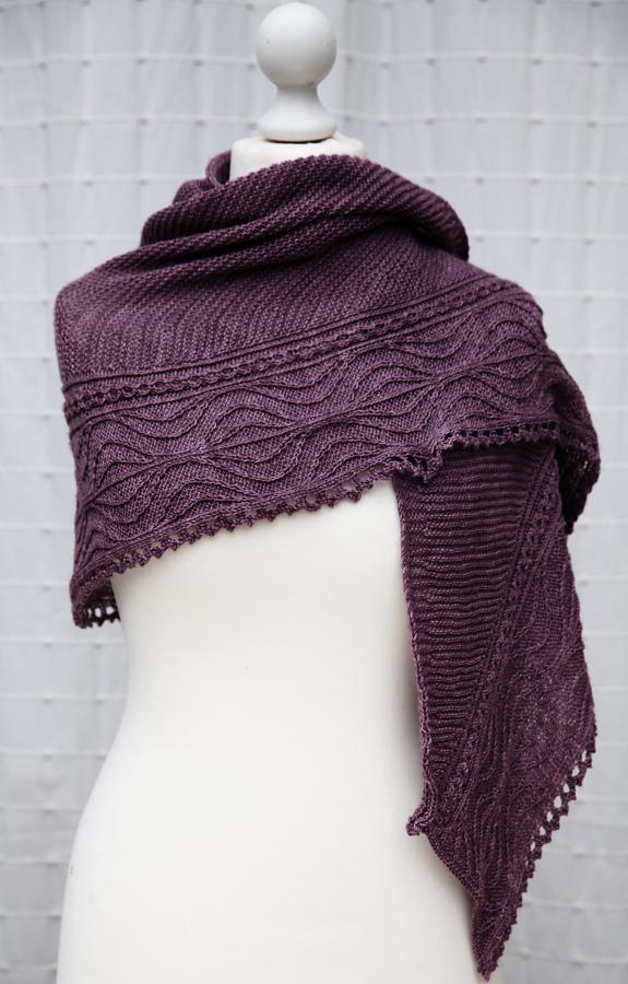 Free Knitting Pattern for Ascalon Shawl