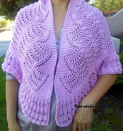 Knitting Pattern for Feather Stitch Shawl