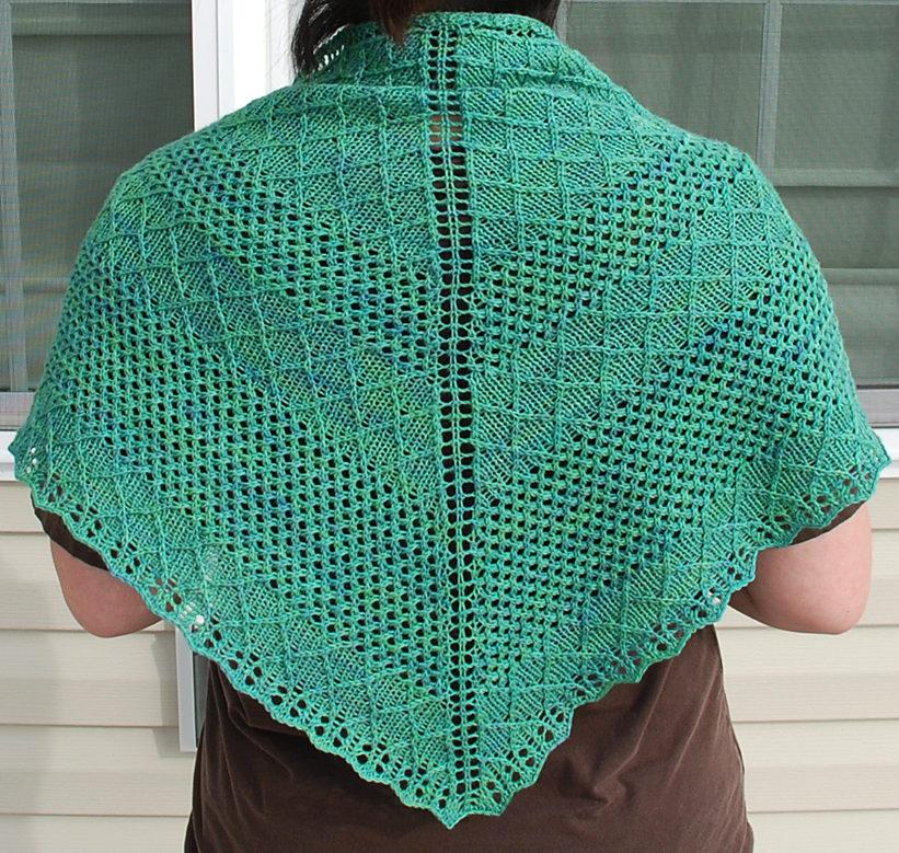 Free Knitting Pattern for Nancy and Judy Shawl
