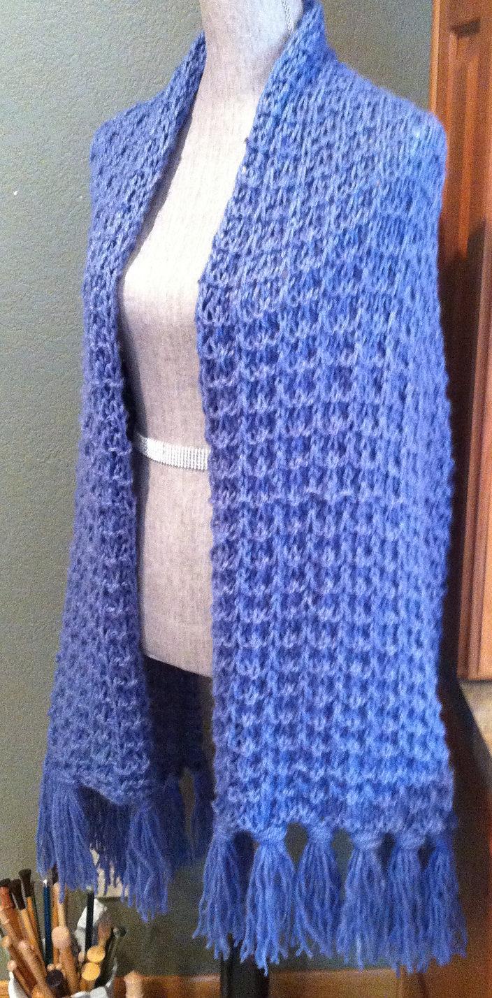 Free Knitting Pattern for Whelk Stitch Prayer Shawl