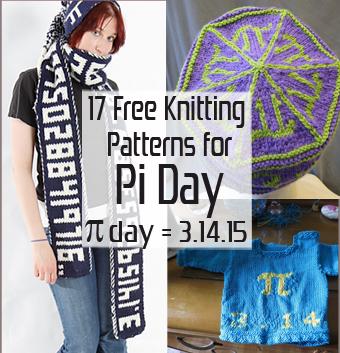 Free Pi Day Knitting Patterns at www.intheloopknittng.com/free-pi-day-knitting-patterns