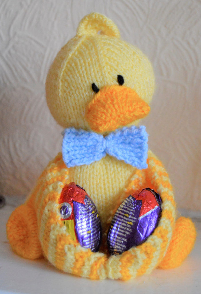 Free Knitting Pattern for Ducky Egg Holder