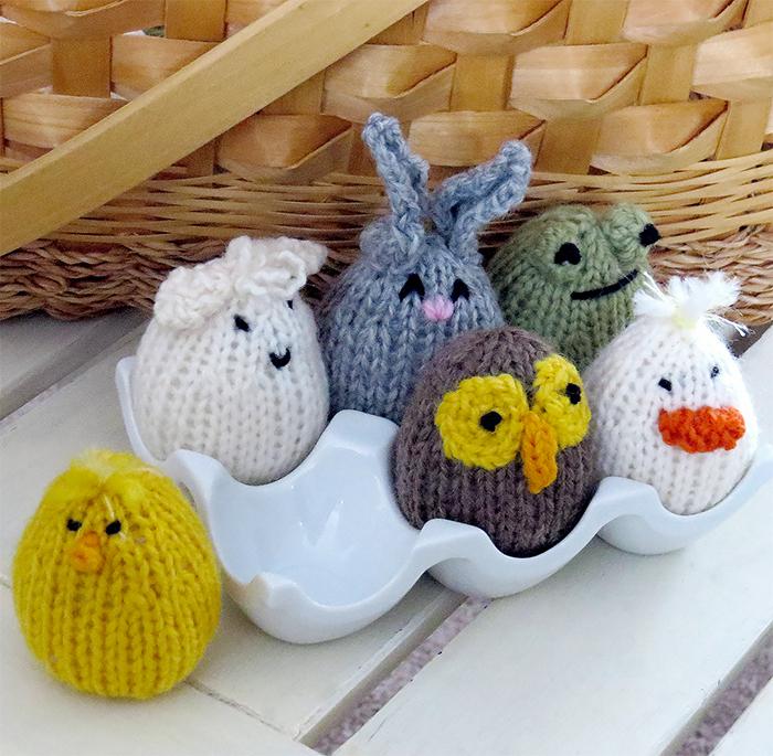 Free Knitting Pattern for Eggkins