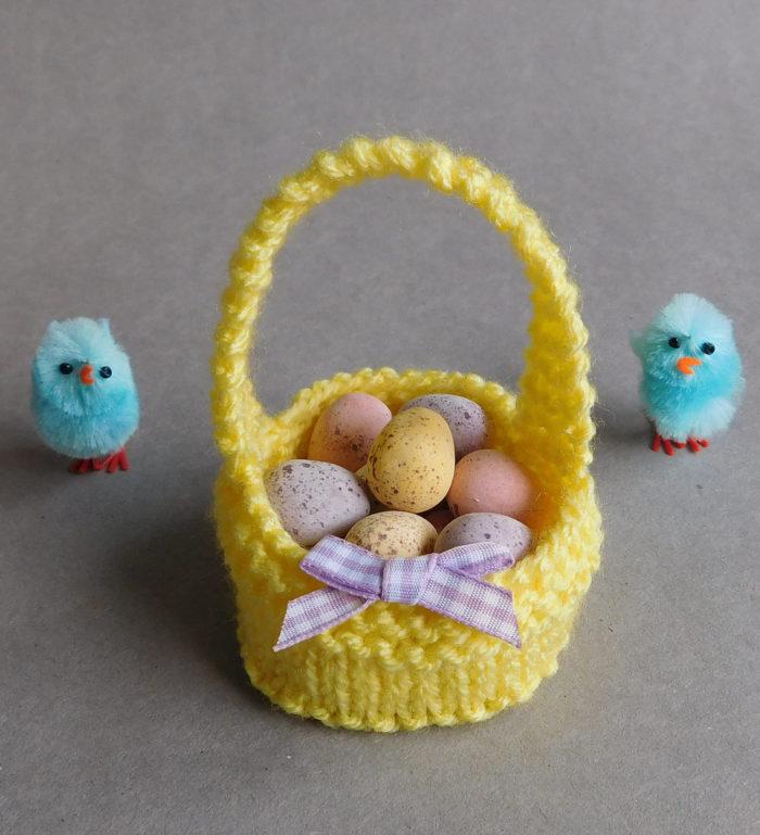 Free Knitting Pattern for Sweet Little Easter Baskets