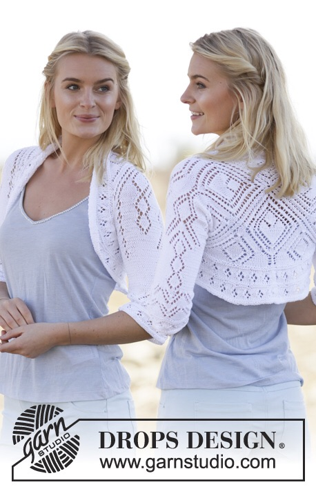 Kamellia Lacy Shrug Free Knitting Pattern   Knitting Patterns for Shrugs and Boleros, many free patterns at http://intheloopknitting.com/free-shrug-bolero-knitting-patterns/