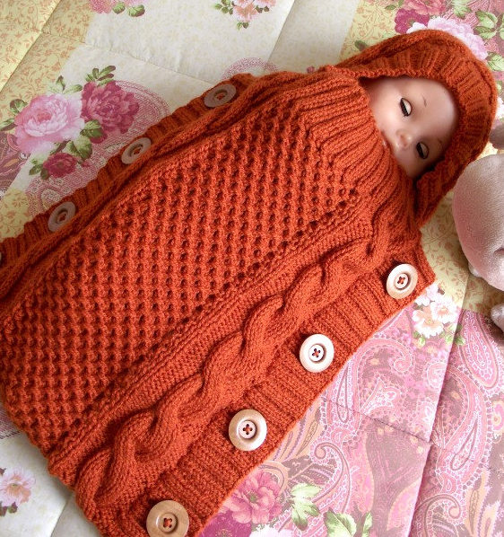 Knitting Pattern for Sweet Snuggle Baby Cocoon