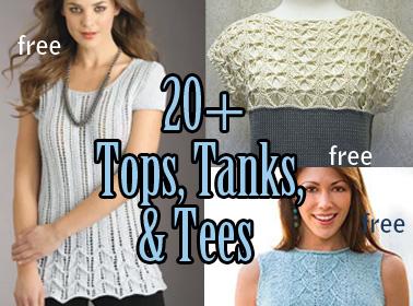 Tops, Tanks, Tees Knitting Patterns