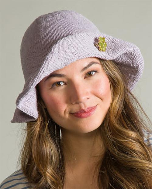 Free Knitting Pattern for Hanako Floppy Hat