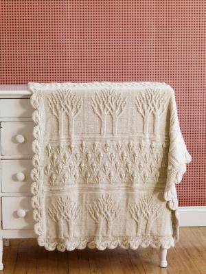 Tree of Life Afghan Knitting Pattern