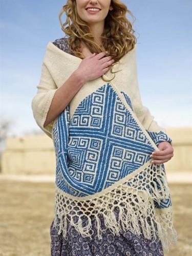 San Cristobal Shawl Pattern   Shawl and Wrap Knitting Patterns at www.terrymatz.biz/intheloop