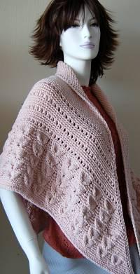 Shell Stitch Shawl Free Knitting Pattern | Free Shawl and Wrap Knitting Patterns at www.terrymatz.biz/intheloop