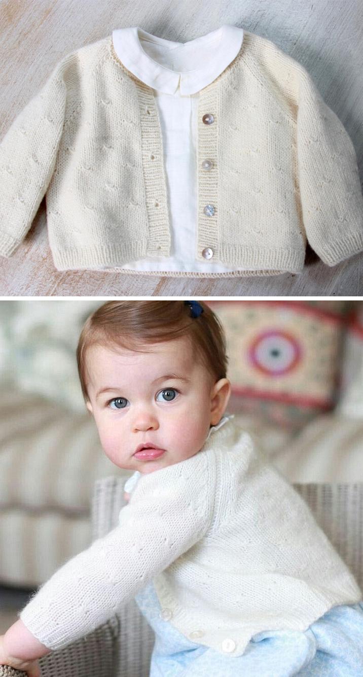 Knitting Pattern for Princess Charlotte Cardigan
