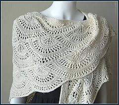 Panda Silk DK Fan Shawl Free Knitting Pattern | 12 Free Shawl Knitting Patterns at www.terrymatz.biz/intheloop