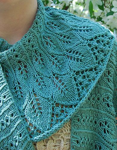 Kudzu Shawl Free Knitting Pattern | Free Shawl and Wrap Knitting Patterns at www.terrymatz.biz/intheloop
