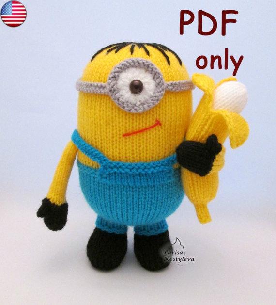 Knitting pattern for Stuart One Eyed Minion