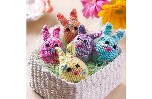 Gumdrop Bunnies Free Knitting Pattern | Free Quick Easter Knitting Patterns at http://intheloopknitting.com/free-quick-easter-knitting-patterns