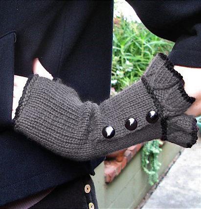 Free Knitting Pattern for Belle Ruffle Gloves