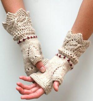 Prairie Fingerless Gloves Free Knitting Pattern