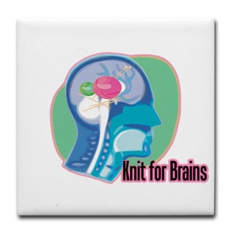 Knit for Brains. Click to see on tshirts, mugs, totes, magnets, more