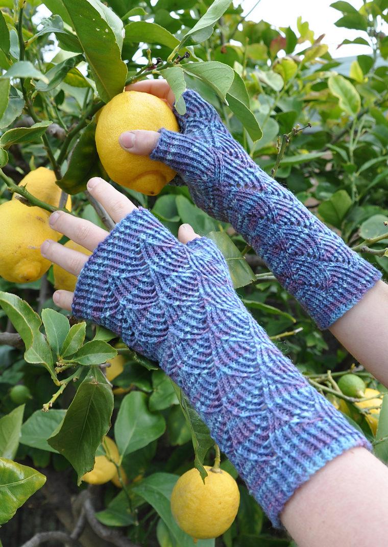 Free Knitting Pattern for Nereid Fingerless Mitts