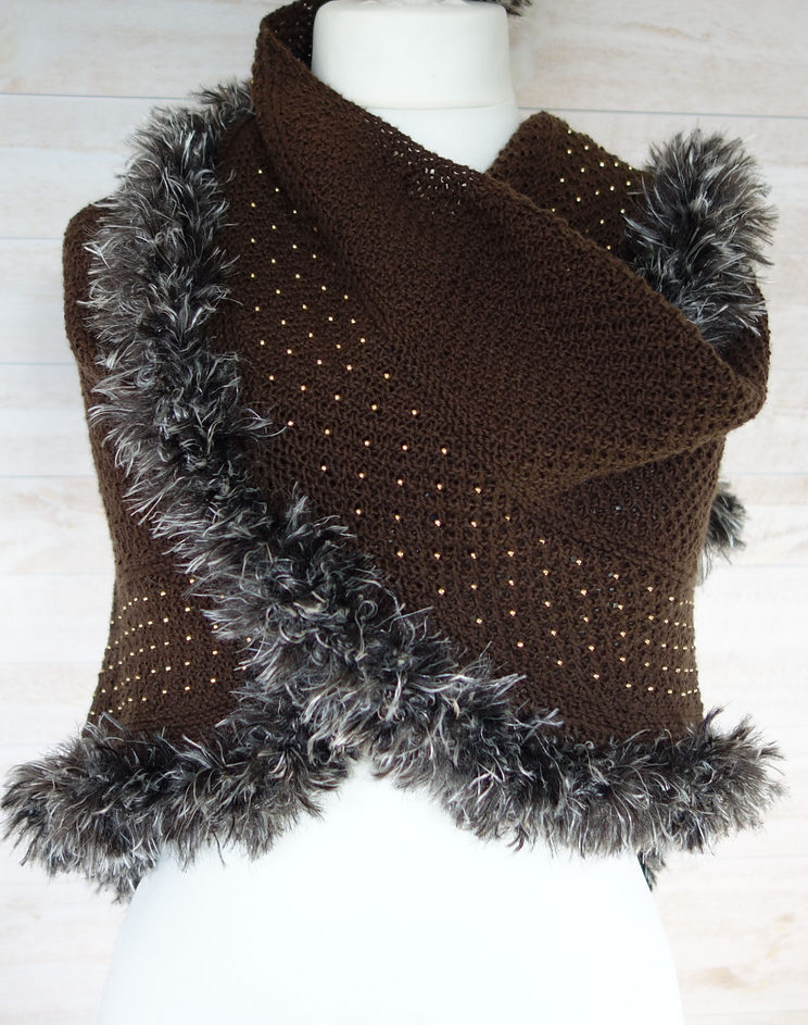 Free Knitting Pattern for Night Sky Shawl