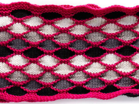 Free Knitting Pattern for Roulette Chic Cowl