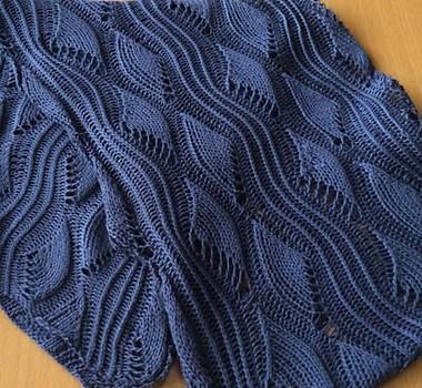 Wellen in Pink Scarf Free Knitting Pattern