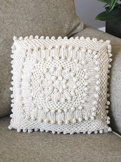 Matelasse Pillow Knitting Pattern and more pillow knitting patterns