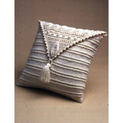 Aran Leaf Pillow Free Knitting Pattern and more pillow cushion knitting patterns